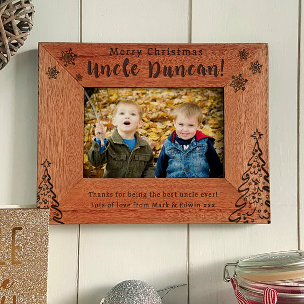 Merry Christmas Uncle Engraved photoframe