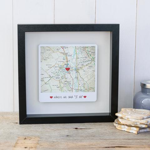 Where we said I do personalised box frame wedding gift