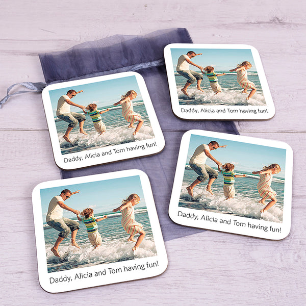 Personalised Poloroid Coaster Set
