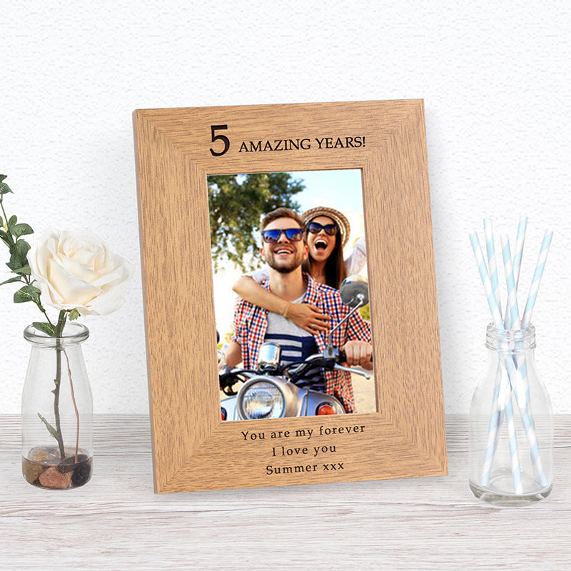 Amazing Years Anniversary Photo Frame