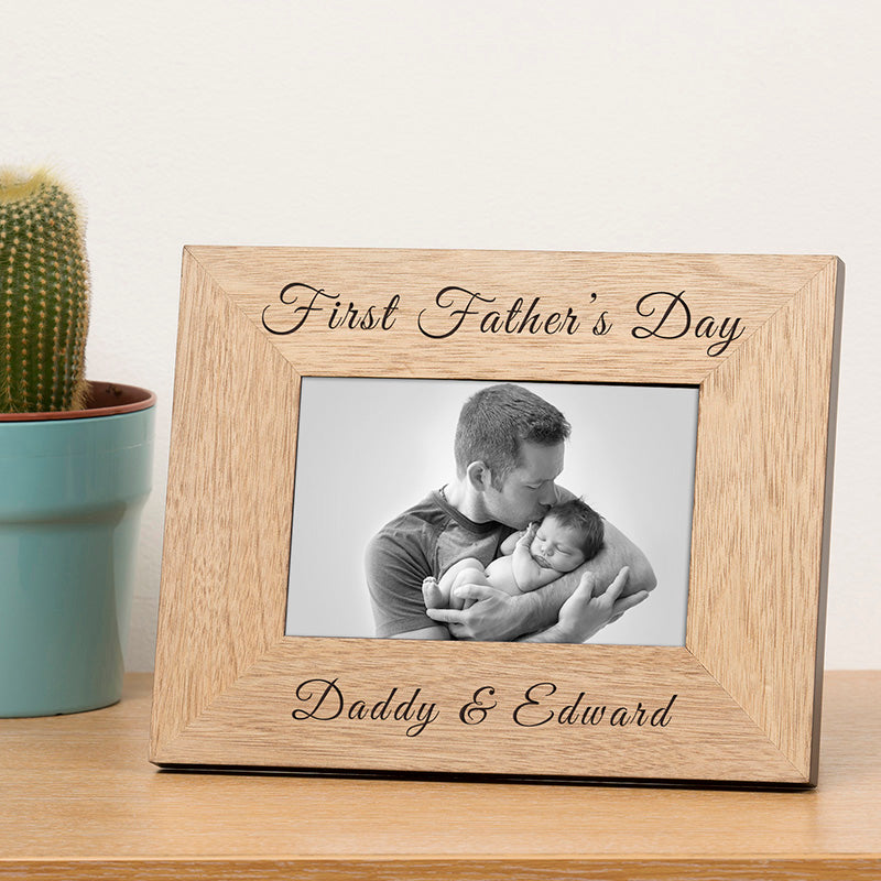 First Father's Day Photo Frame