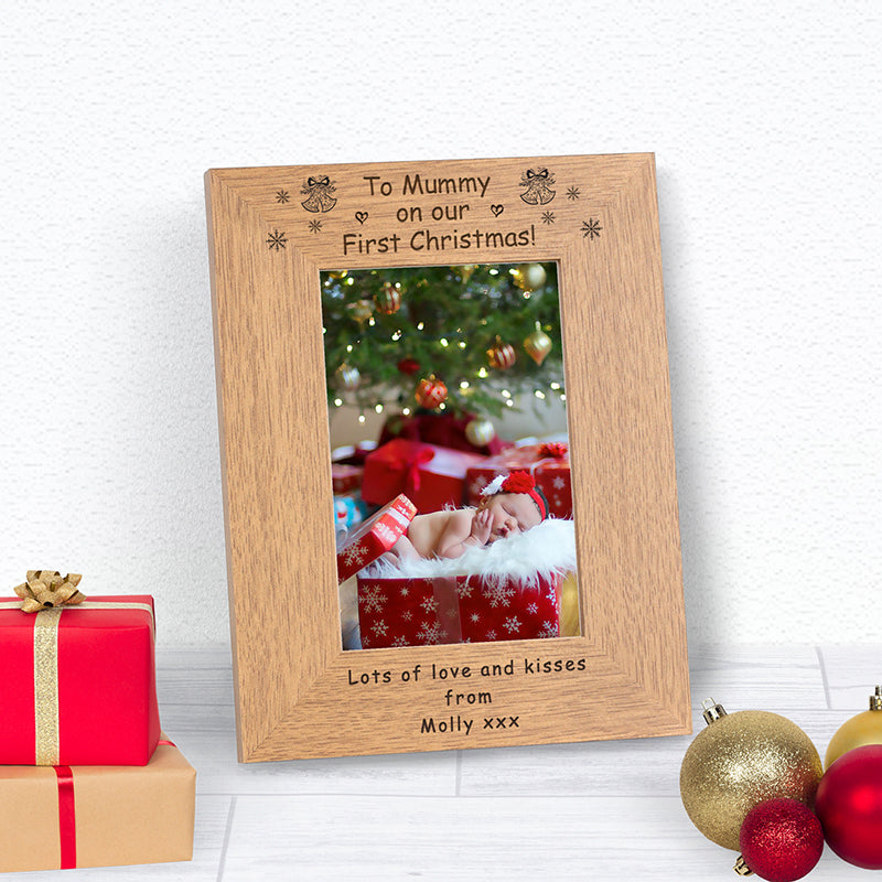 On Our First Christmas Mummy Photo Frame