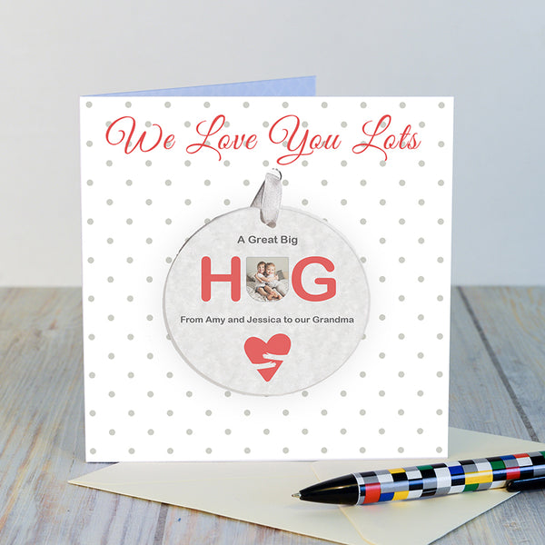 A Great Big Hug Card with Decoration