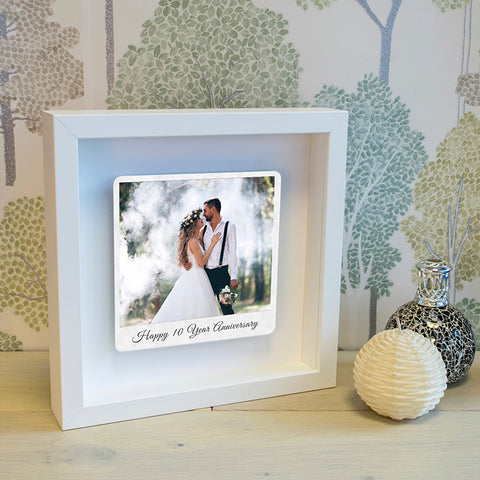 10 Year Anniversary Floating Aluminium Photo Box Frame
