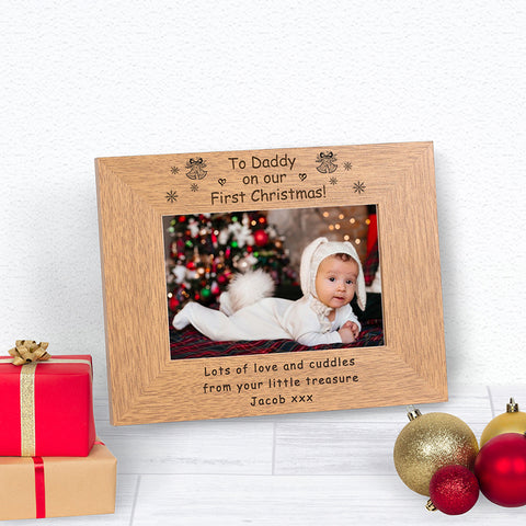 On Our First Christmas Daddy Photo Frame
