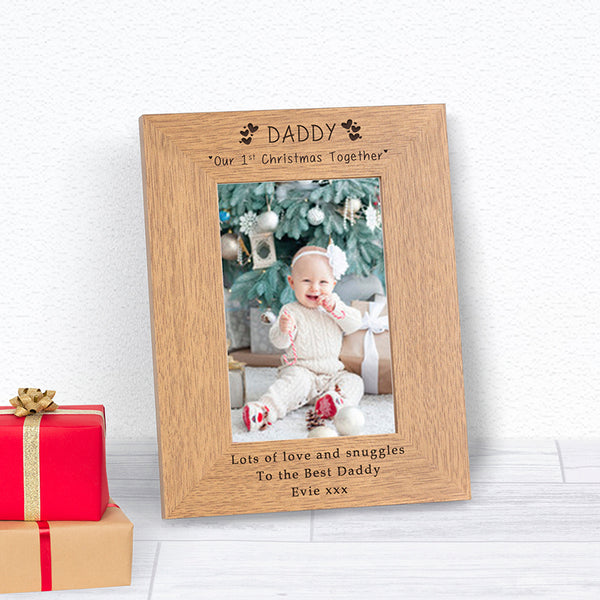 Daddy Our 1st Christmas Together Photo Frame