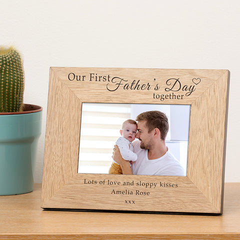 Our First Father's Day Together Photo Frame