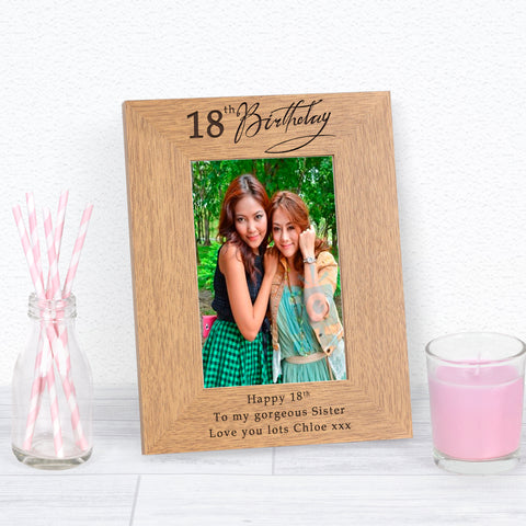 18th Birthday Photo Frame