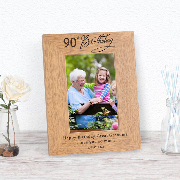 90th Birthday Photo Frame