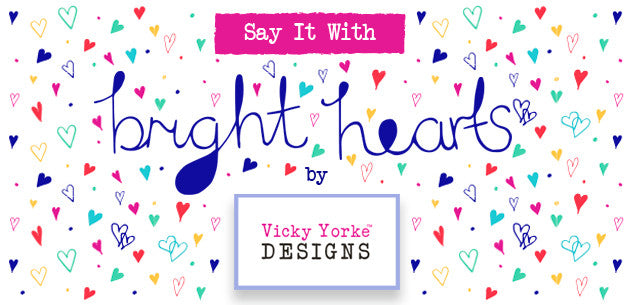 Bright Hearts Valentine's Gifts by Vicky Yorke
