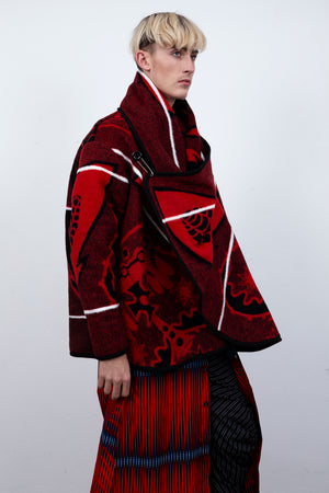 THE BLANKET JACKET RED