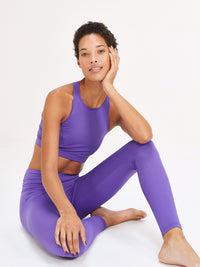 Lucky Purple Classic Hi-Rise Legging - 100% Recycled - Licia Florio