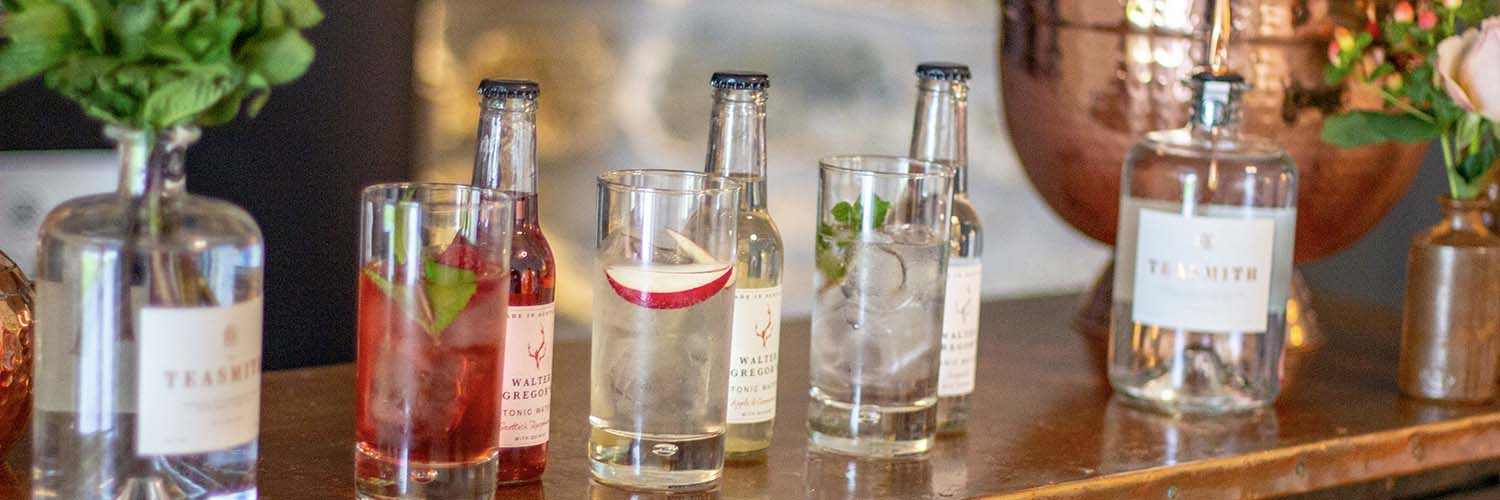 Teasmith Gin cocktails with Walter Gregors tonic