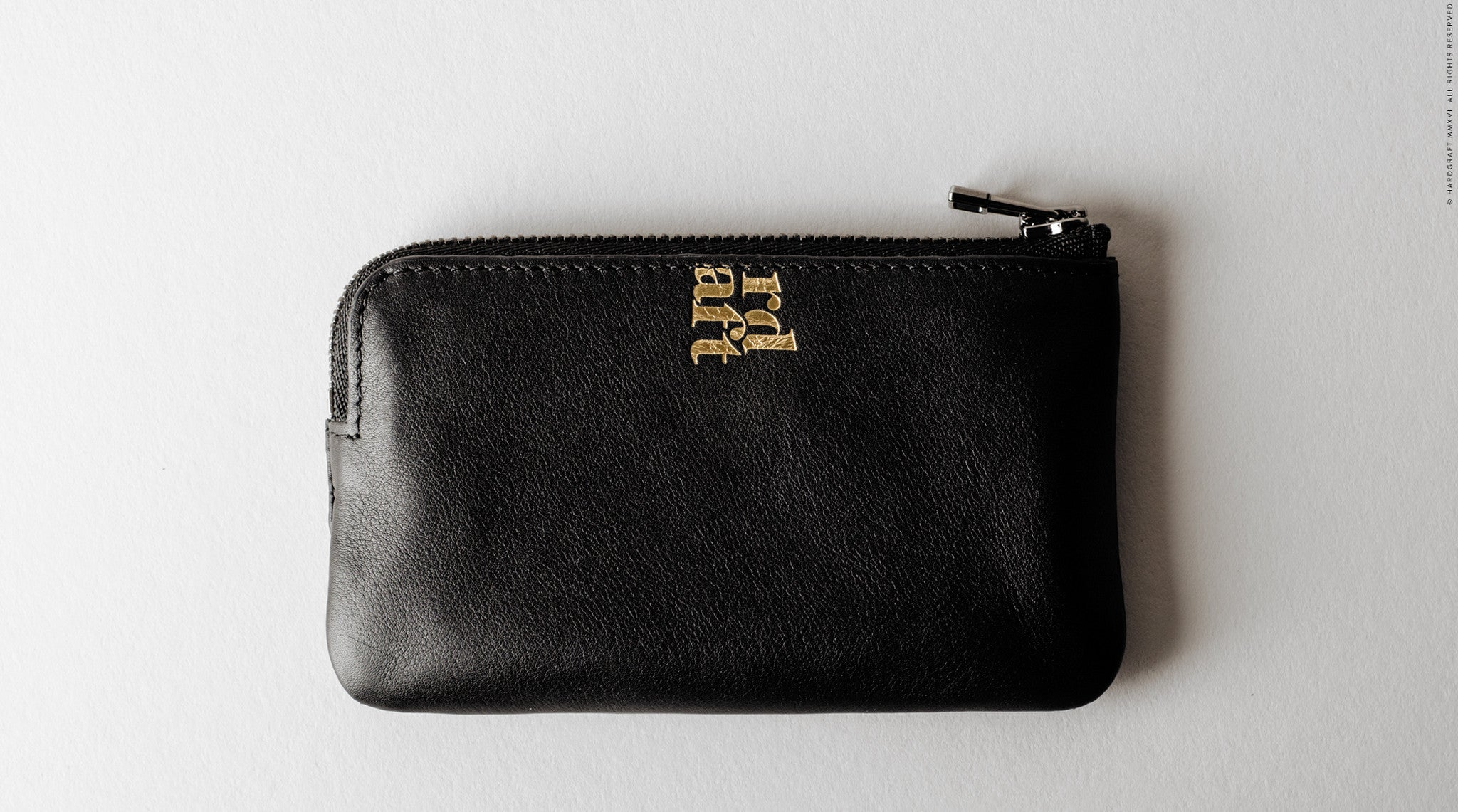 Zip Pouch . Black Oil