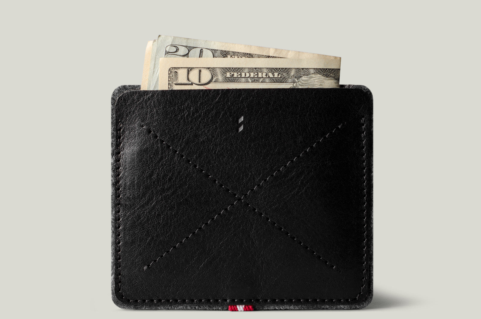 No Fold Wallet . Coal