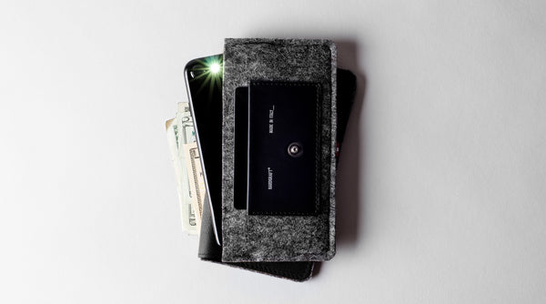 Phone Fold Wallet . Coal