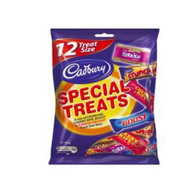Cadbury Share Pack Special Treats 195g | Crunchie, Cherry Ripe, Turkish Delight, Boost | Made in Australia (12 Pack) | Filled with Australia's Favorite Treats!