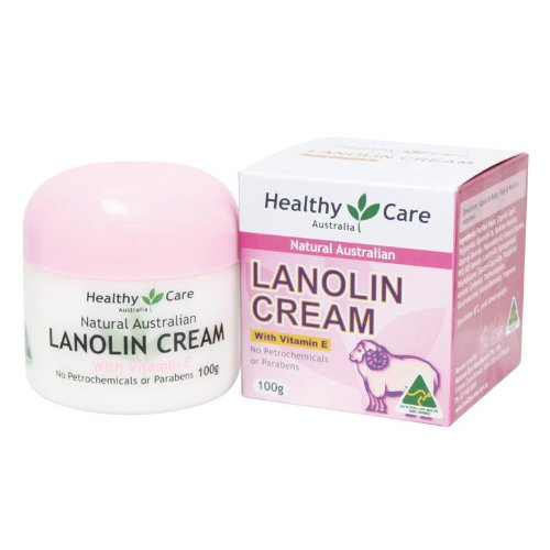 Healthy Care Natural Lanolin & Vitamin E Cream 100g (Made in Australia)