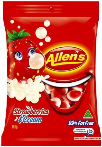 Allen's Strawberries & Cream 190g