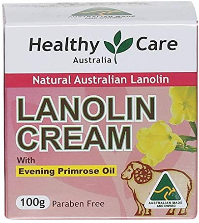 Healthy Care Lanolin Cream with Evening Primrose Oil 100g made in Australia