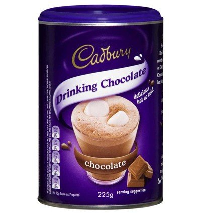 Cadbury Drinking Chocolate 225g (Made in Australia)