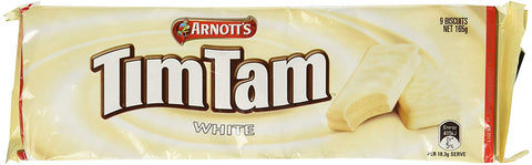 Tim Tam Cookies Arnotts | Tim Tams Chocolate Biscuits | Made in Australia | Choose Your Flavor (2 Pack) (White Chocolate)