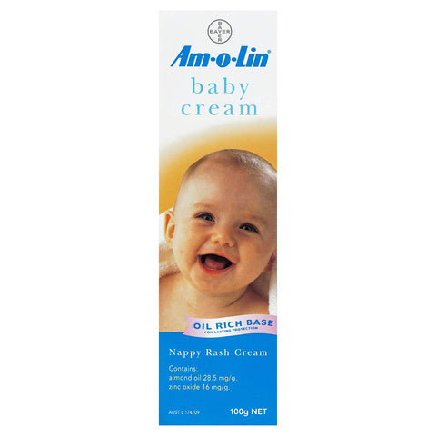 Am-o-Lin Nappy Rash Cream 100g