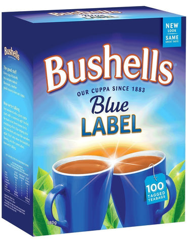 Australian Bushells Blue Label 100 Tagged Tea Bags