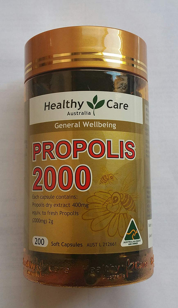 Healthy Care Propolis 2000mg 200 Capsules (Australia Import)