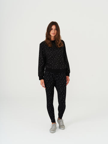 Comfy Copenhagen Genser Dont speak Silver dots - Welike