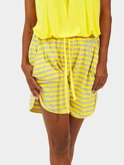 Shorts One More Night Yellow Navy stripes - Welike