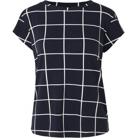 Comfy Copenhagen T-Skjorte Rockstar Navy checkered