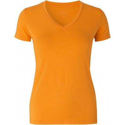 Comfy Copenhagen T-Skjorte You Love Me ( V-Hals) Orange - Welike