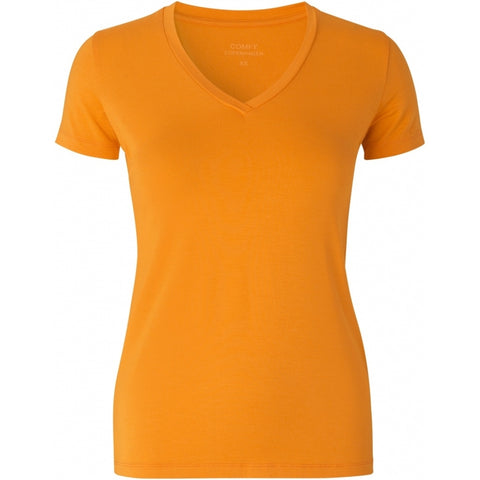 Comfy Copenhagen T-Skjorte You Love Me ( V-Hals) Orange