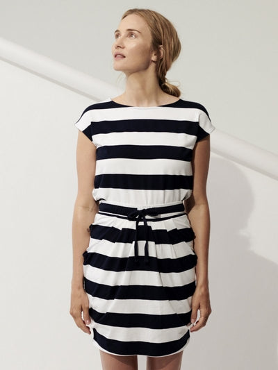 Comfy Copenhagen Bluse With Or Without You Navy/White Stripe - Welike