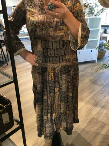 Mazing kjole Stine Maxi dress paisley