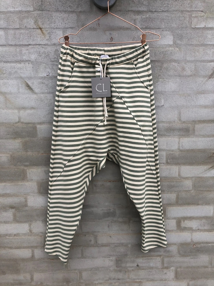 Baggy Pants Green Stripes