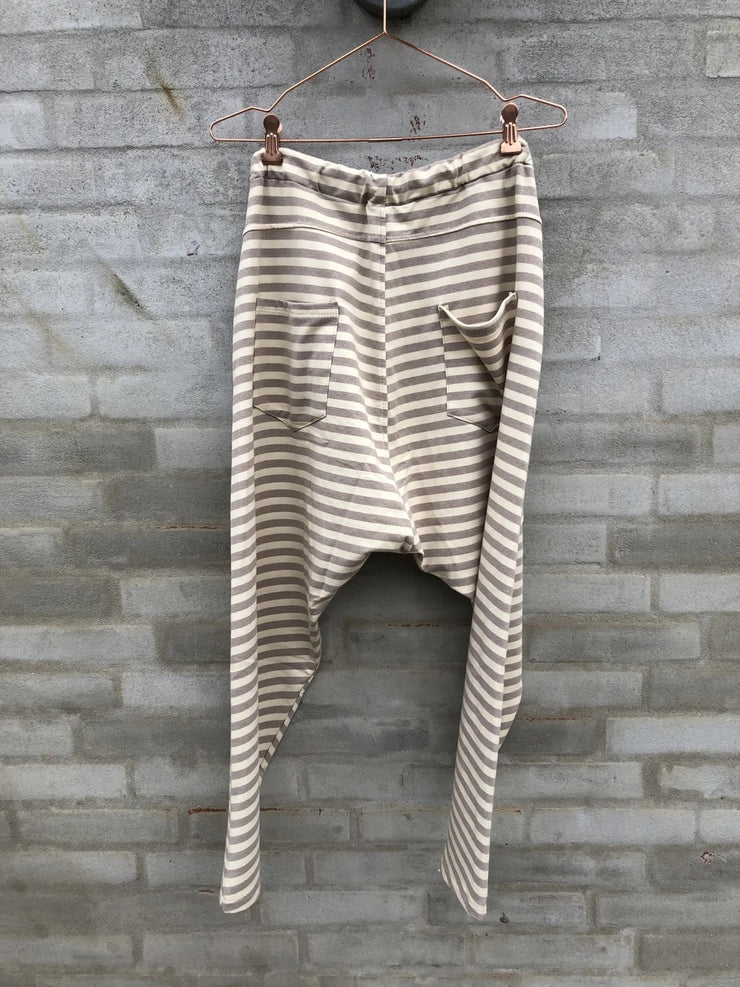 Baggy Pants Beige Stripes