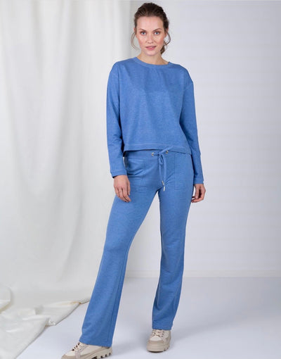 SLEAK flaired pants Sky Blue