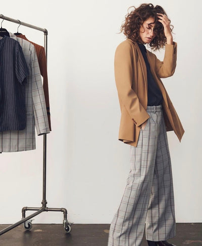 KAREN by SIMONSEN SydneyKB Wide Check Pants - Welike