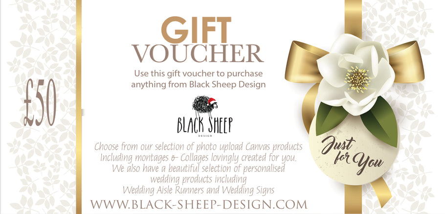 Gift Voucher Now available on the Black Sheep Design Store