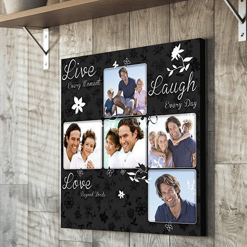 Live Love Laugh Montage Canvas