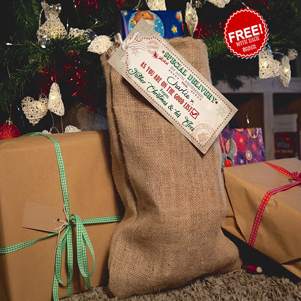 "Free Santa Sack with Every ""Early Bird"" Order Plus 70% off your order."