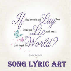 Song lyric canvas unique artwork with your favourite song lyrics