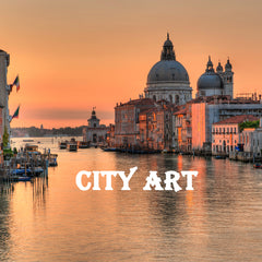 CITY ART CANVAS HIGH QULAITY PRINT
