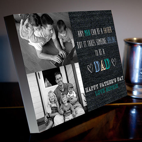 Father's Day 2 Image Canvas Dad gift