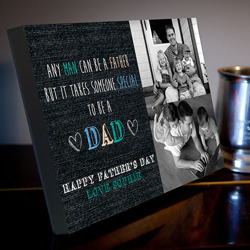 2 Image Father's Day Collage Canvas