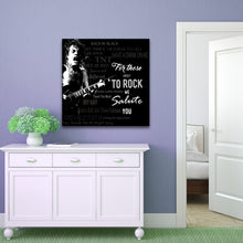 Square Art Canvas using lyrics from ACDC - We Salute You