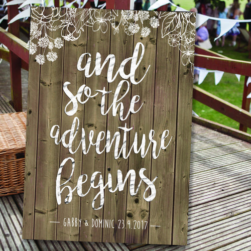 Wedding canvas venue bride and groom