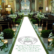 Load image into Gallery viewer, Claddagh Irish Personalised Wedding Aisle Runner